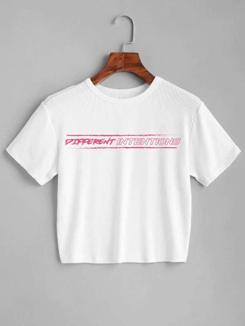 Pretty in Pink Crop Top Shirt - Different Intentions