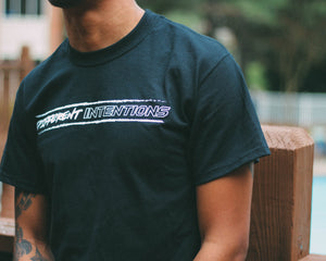 "Black Short Sleeve "" Intentionally Different "" Shirt - Different Intentions"