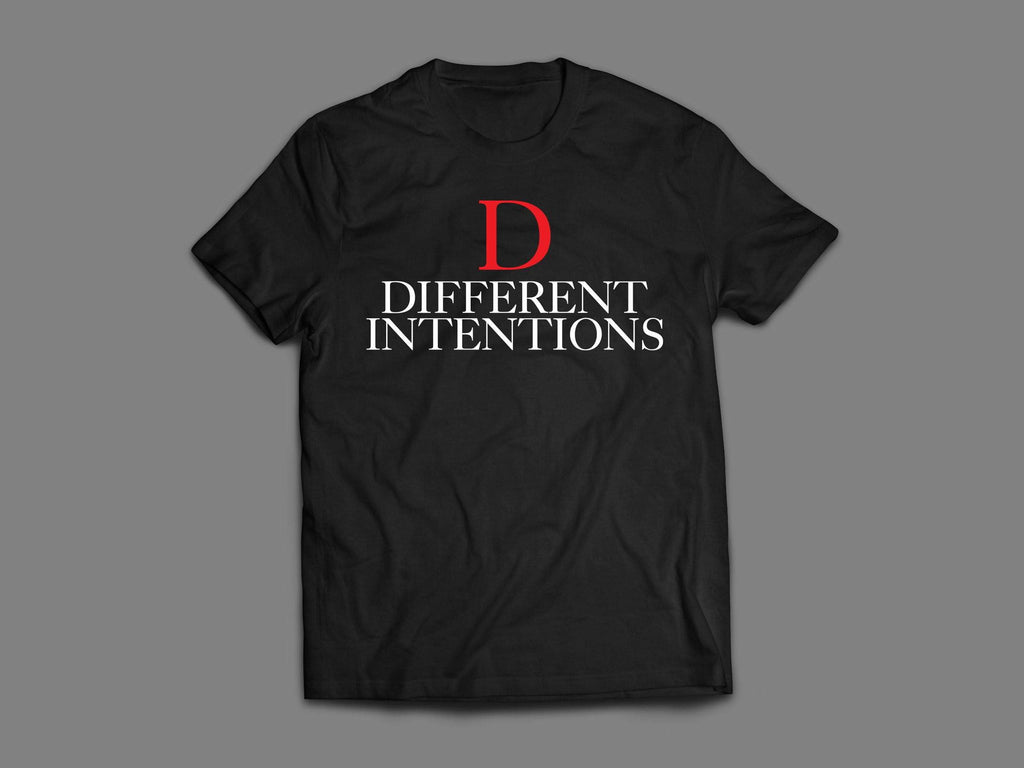 Black DTI RED D Short Sleeve Shirt - Different Intentions