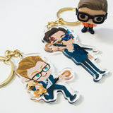 Kingsman: Harry Butterfly / Eggsy Charms