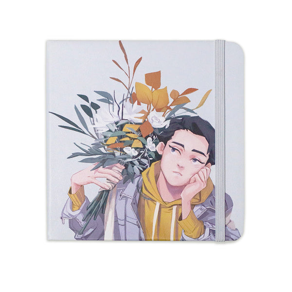 A5sq「summer boy, winter flowers」Sketchbook