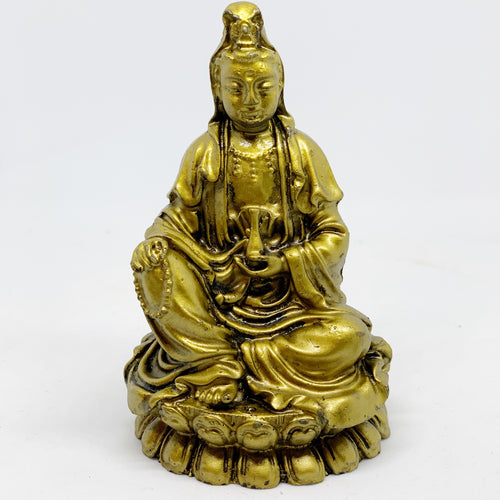 Kuan Yin sitting on lotus