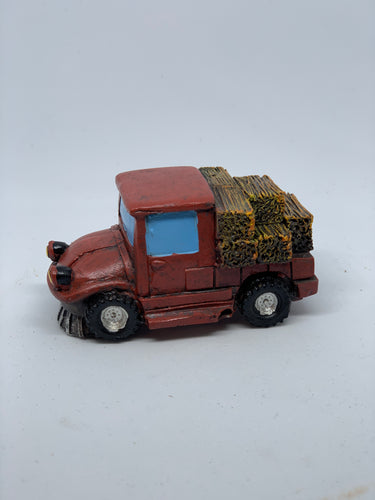 Truck with hay
