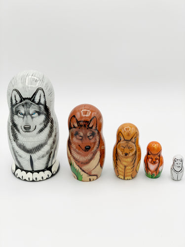 Wolves and Foxes Nesting Dolls