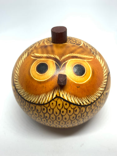 Owl Gourd Container