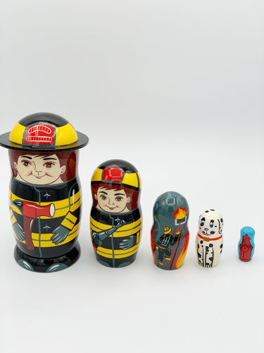 Firefighter Nesting Doll