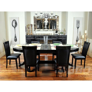 BBO Classic Poker Table Chairs Black Gloss