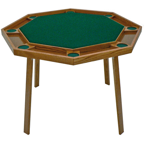 Kestell Compact Oak Folding Poker Table - 42 inch