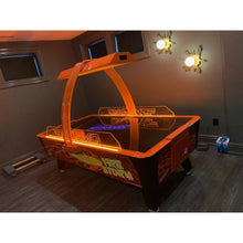 Load image into Gallery viewer, Dynamo Fire Storm Commercial Home Air Hockey Table 8'