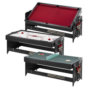 Fat Cat Original 3-in-1 7' Pockey Multi-Game Table Red