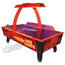Load image into Gallery viewer, Dynamo 8' Fire Storm Home Air Hockey Table