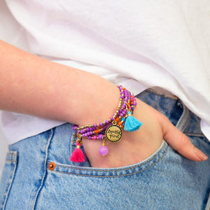 Beautiful Friend Charm Bracelet Stack