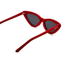 Load image into Gallery viewer, PO Polarised Vintage Ladies Cats Eye Sunglass-Red Smoke Lens