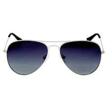 Load image into Gallery viewer, Thames Polarised Vintage Aviator Frame Sunglasses - Silver Grad- Smoke Lens
