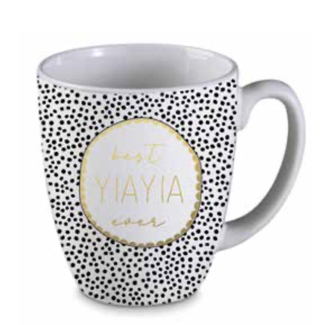 BEST YIAYIA DOTTY MUG  MD534 $14.99