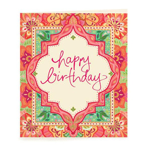 Happy Birthday Pink Gift Tag