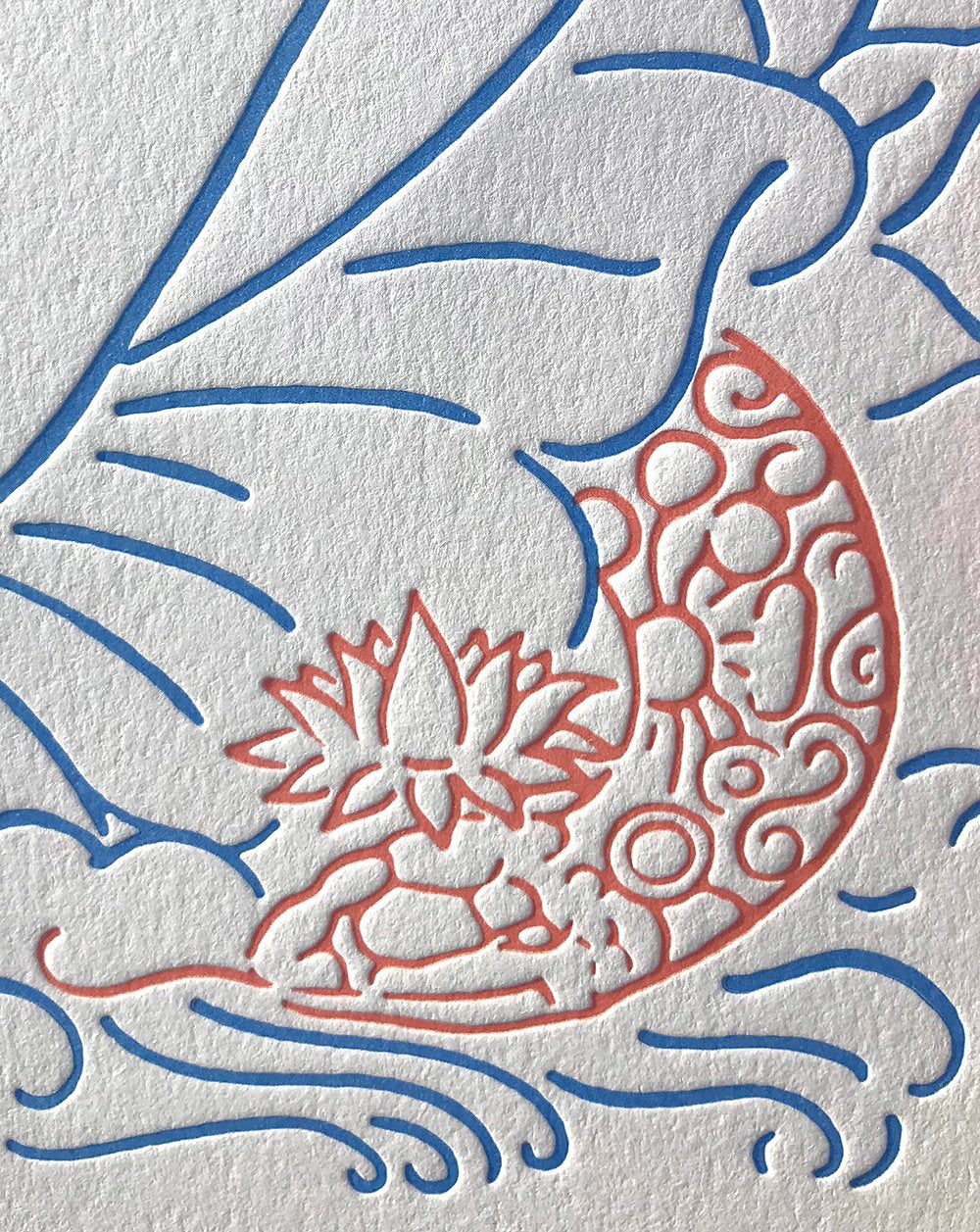 Radiating Orgasm- Letterpress Print