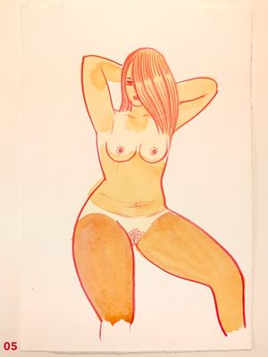 Orange Watercolors A