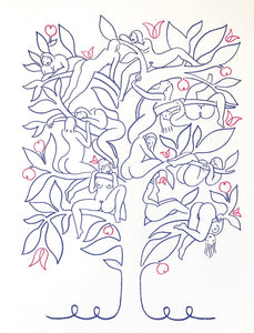 Peach Tree - Letterpress Print