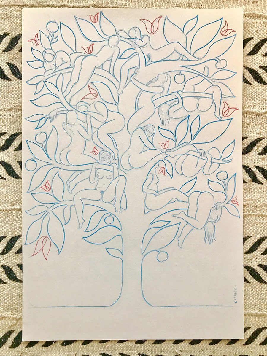 Peach Tree - Original Art