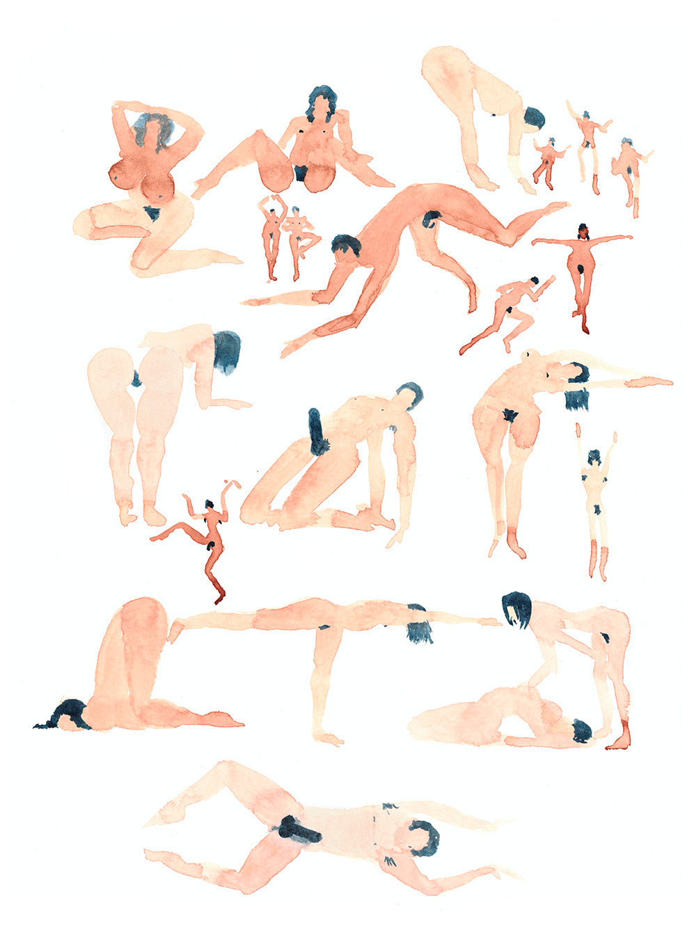 Yoga Figures - Original Art