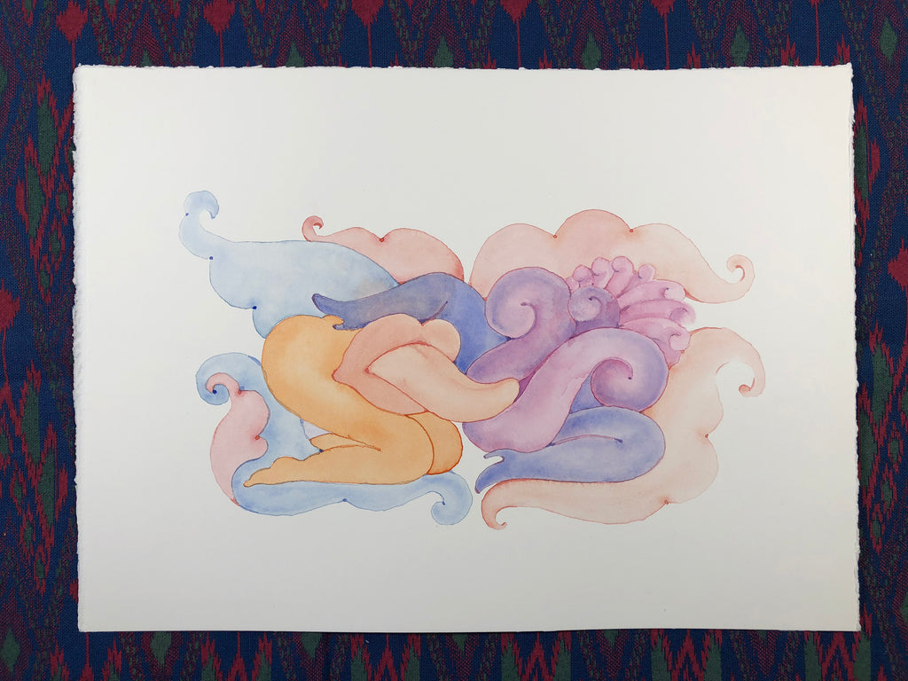 Lickety Split- Watercolor Original