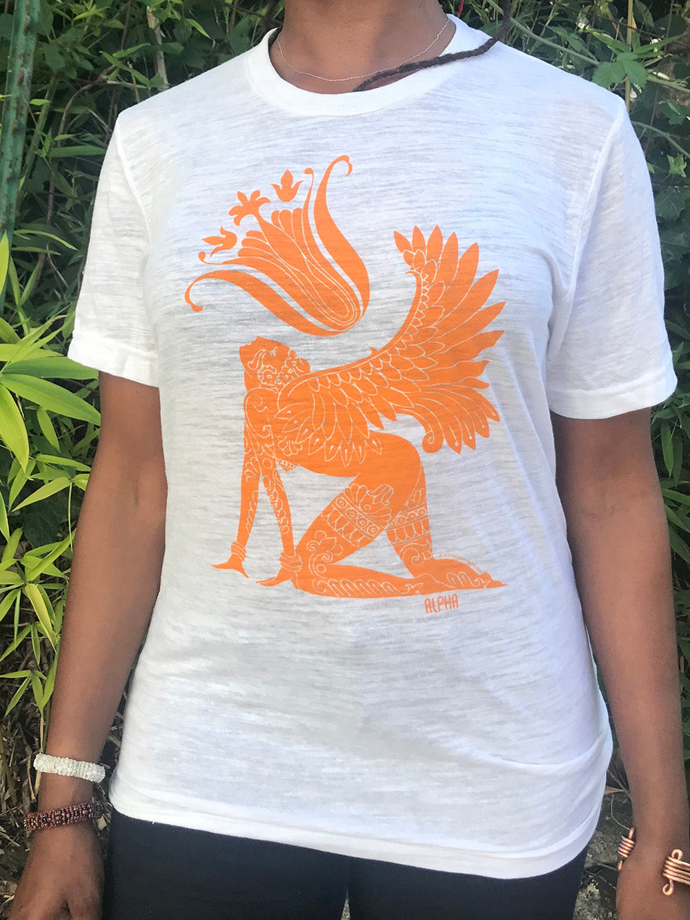 T-Shirt • Sacred Dreamer- Orange on White