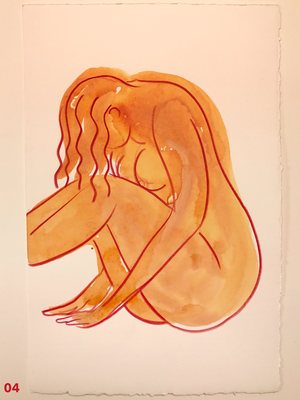 Original Artwork -Orange Watercolors