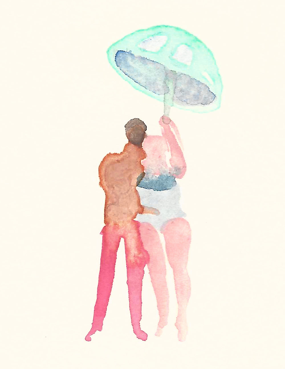 Original Art- Umbrella- Small Work