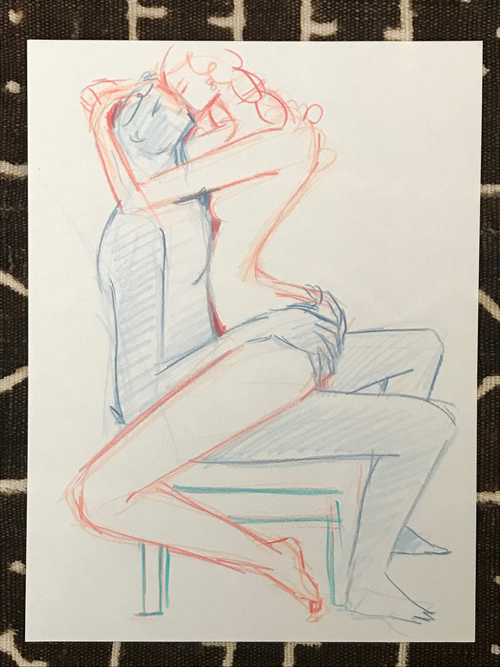 Original Art- Kissing Fucking-Version 1