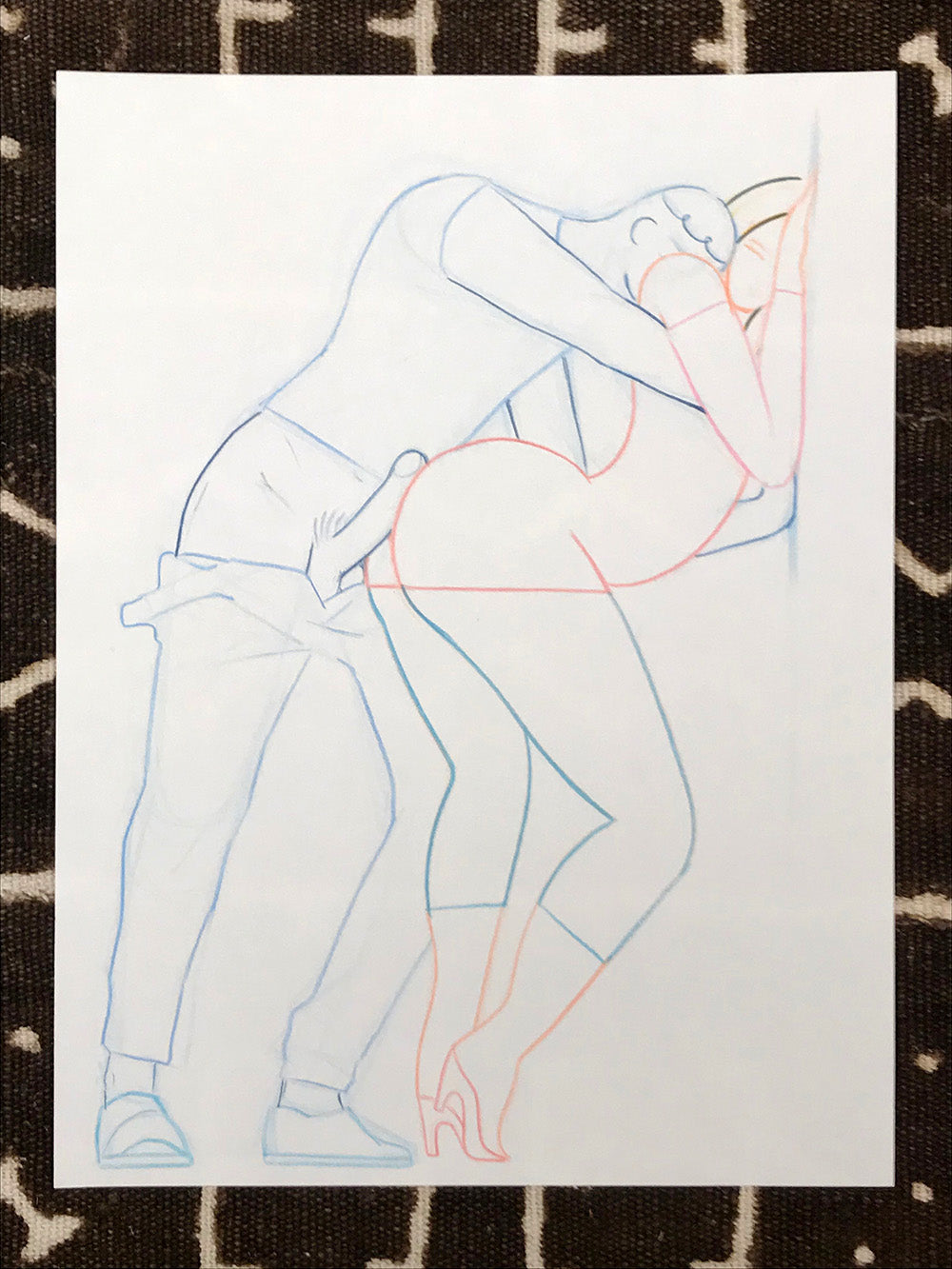 Original Art- Hard Loves Curvy