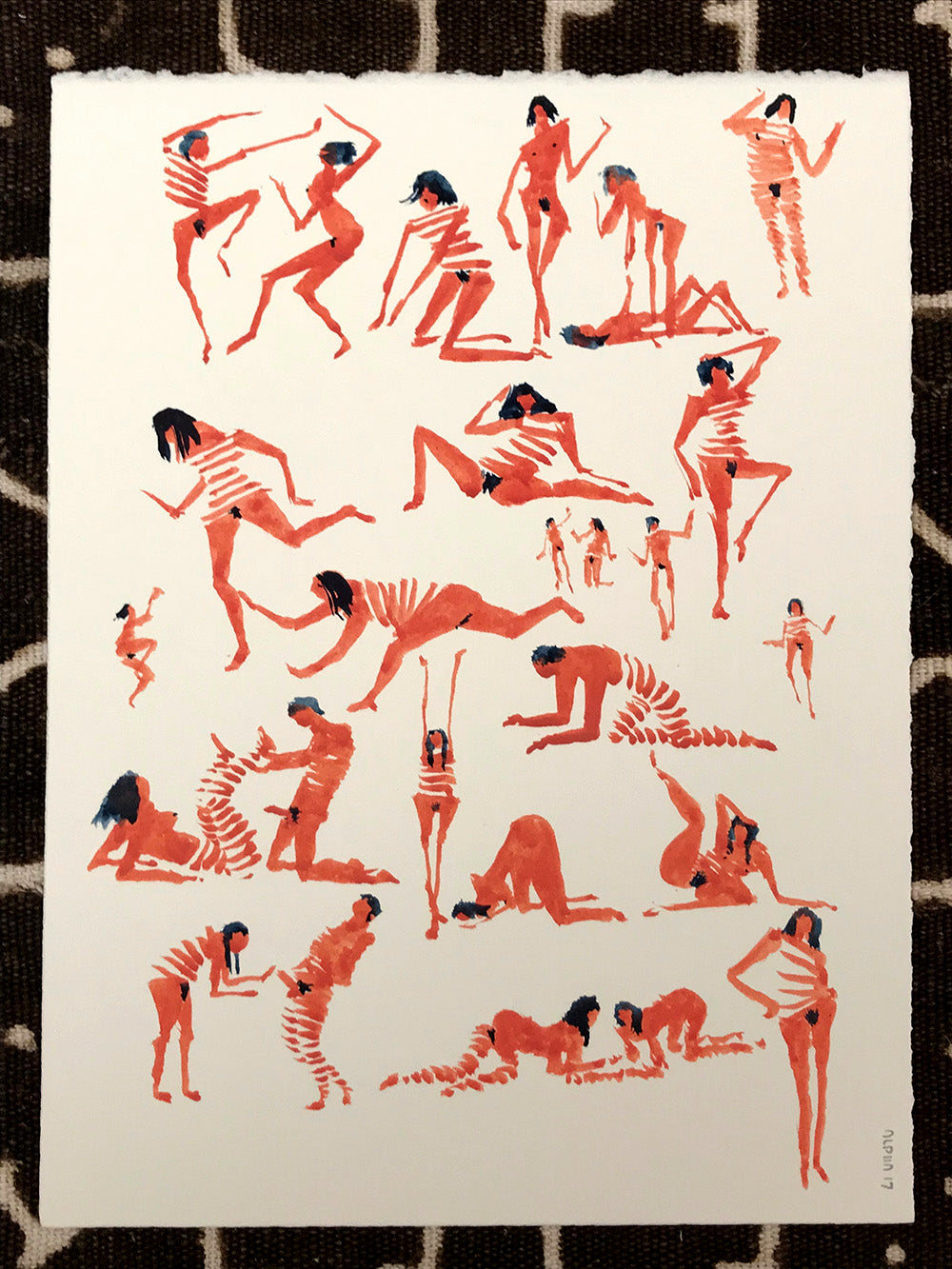 Original Art- Figures with Red Stripes