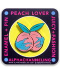 Peach Lover Pin or Keychain