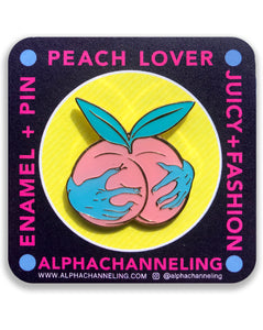 Peach Lover Pin