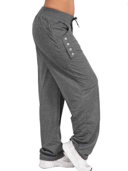 wiccous.com Plus Size Bottoms Casual Trousers