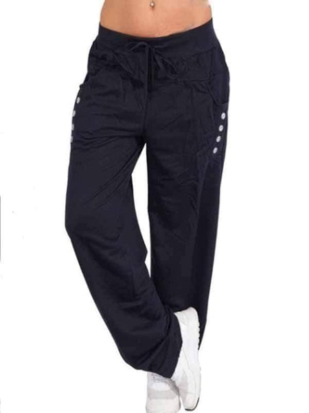 wiccous.com Plus Size Bottoms navy blue / S Casual Trousers