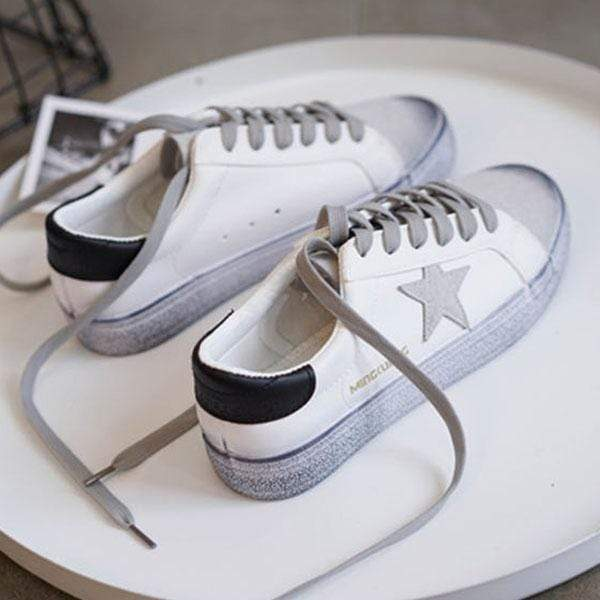 wiccous White + black / 35 Star Small Dirty Shoes