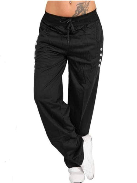 wiccous.com Plus Size Bottoms Black / S Casual Trousers