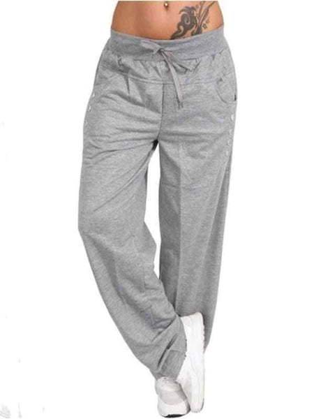 wiccous.com Plus Size Bottoms light grey / S Casual Trousers