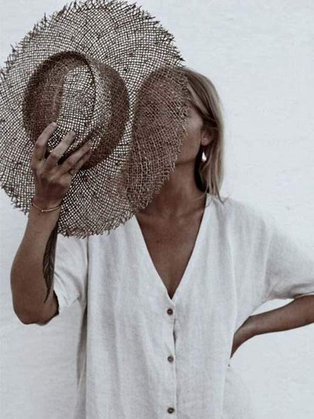 wiccous.com hat Tobacco Distressed Vintage handmade sisal hat