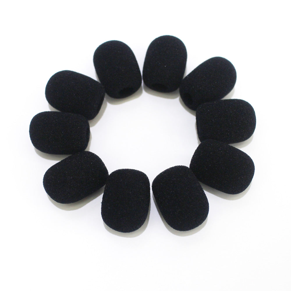 BingQing brand Foam Mic Cover. 10pcs Mini Microphone Headset Windscreen Foam Mic Cover -30 x 9.7mm