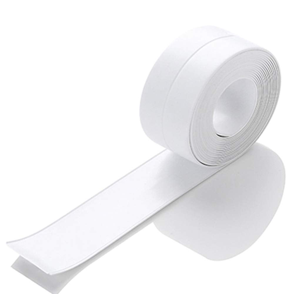 KaLaiXing Tub and Wall Caulk Strip. Kitchen Caulk Tape Bathroom Wall Sealing Tape Waterproof Self-Adhesive Decorative Trim-white-YM01