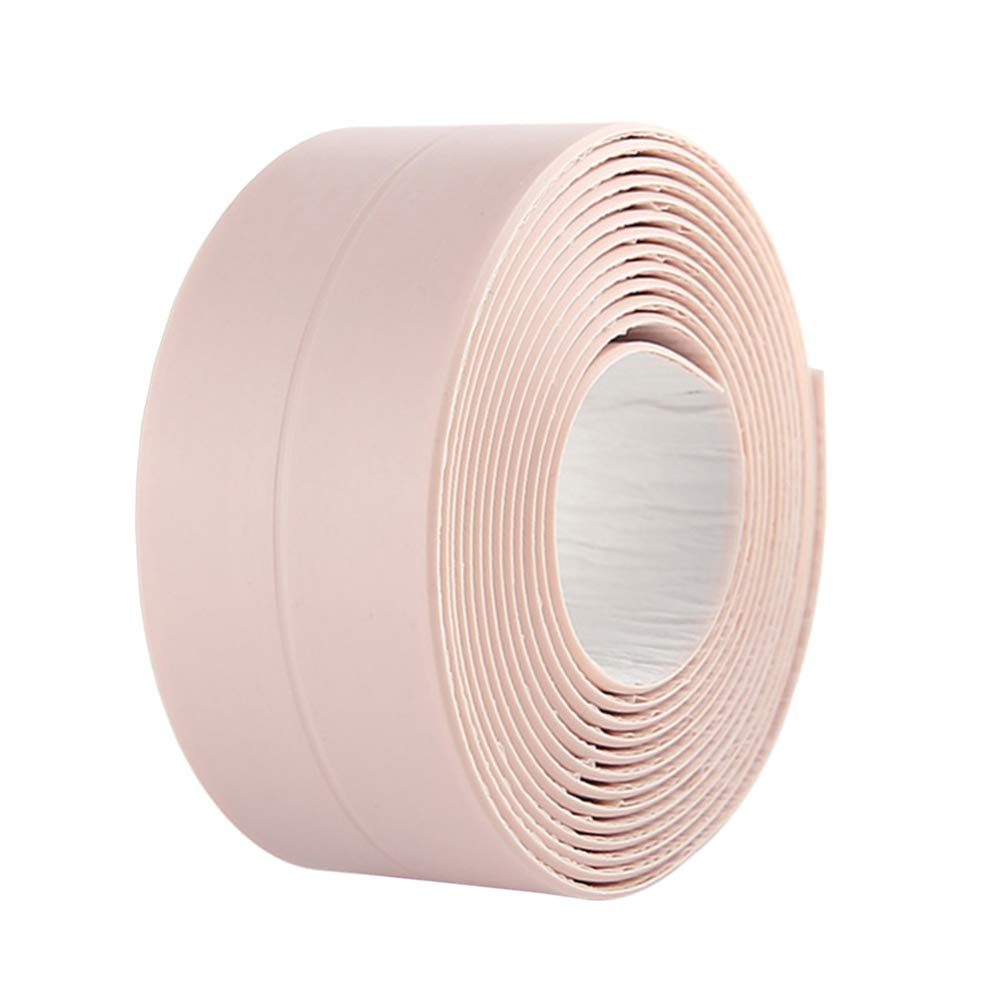 BingQing Brand Tub and Wall Caulk Strip. Kitchen Caulk Tape Bathroom Wall Sealing Tape Waterproof Self-Adhesive Decorative Trim (Pink)