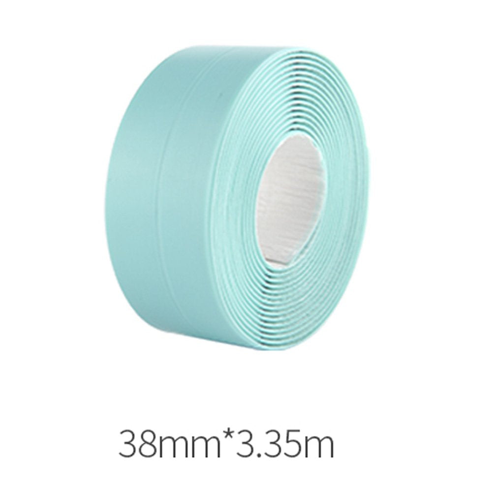 KaLaiXing Tub and Wall Caulk Strip. Kitchen Caulk Tape Bathroom Wall Sealing Tape Waterproof Self-Adhesive Decorative Trim-Green-YM05
