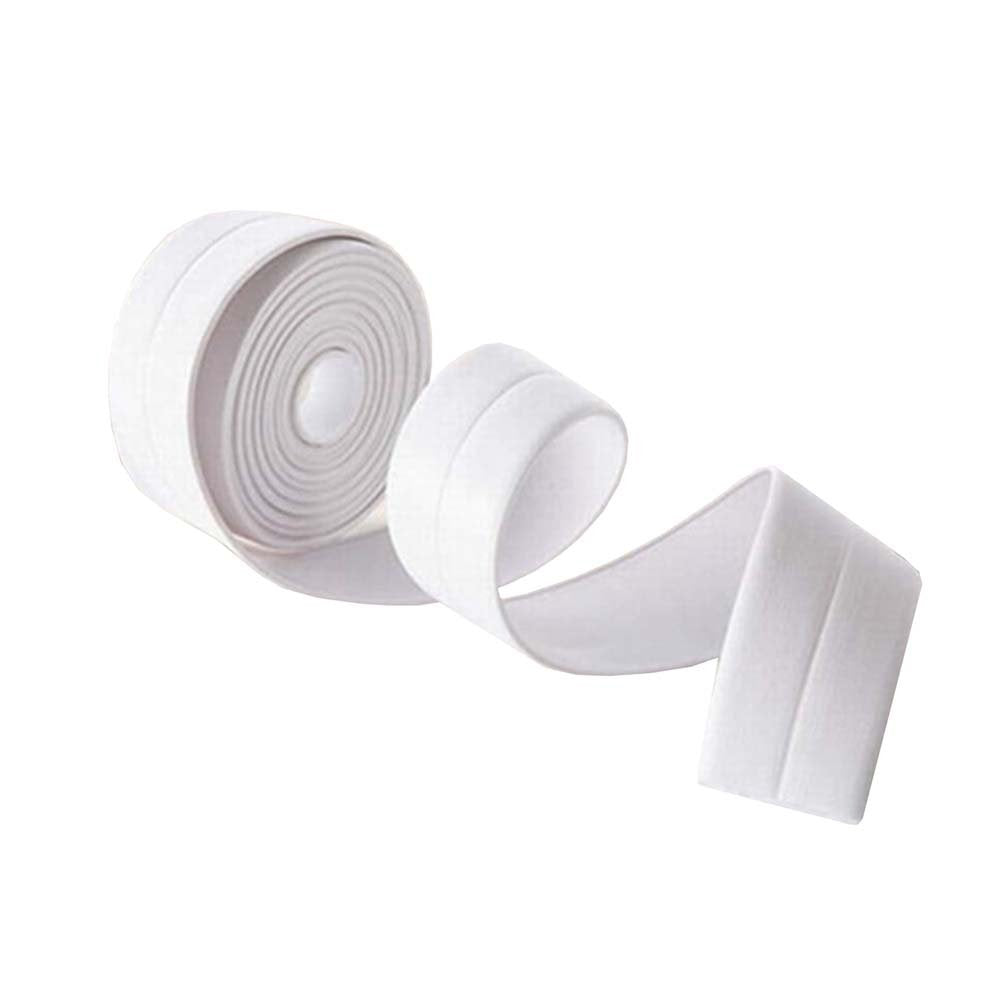 BingQing brand Tub And Wall Caulk Strip. Kitchen Caulk Tape Bathroom Wall Sealing Tape Waterproof Self-Adhesive Decorative Trim-white