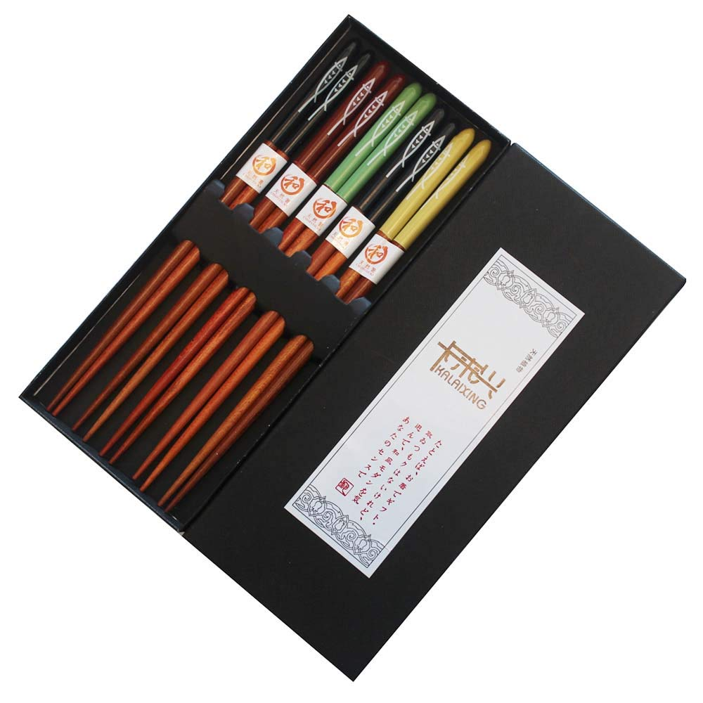 KaLaiXing brand Five Pairs Of Decorated Japanese Chopsticks-5 color-Yu01