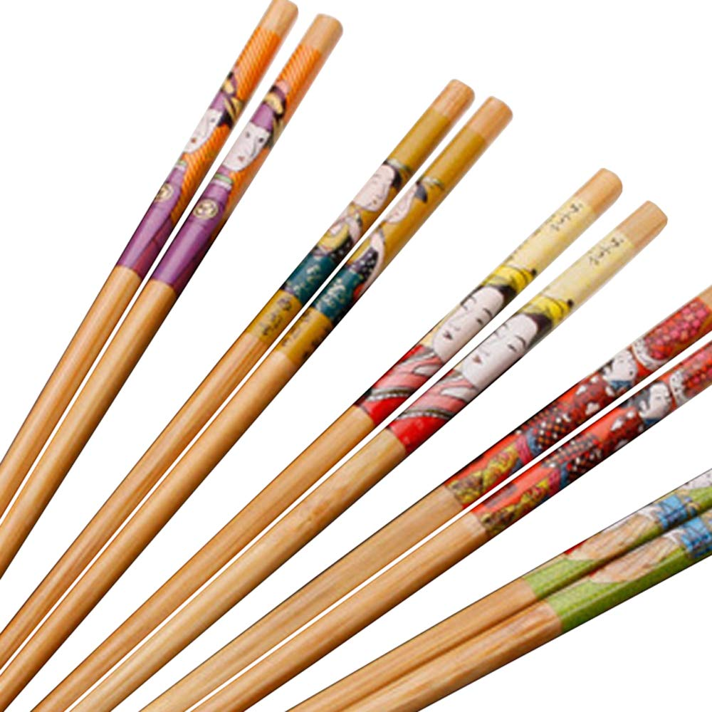 KaLaiXing Five Pairs Of Decorated Japanese Chopsticks-5 color-Zf-1