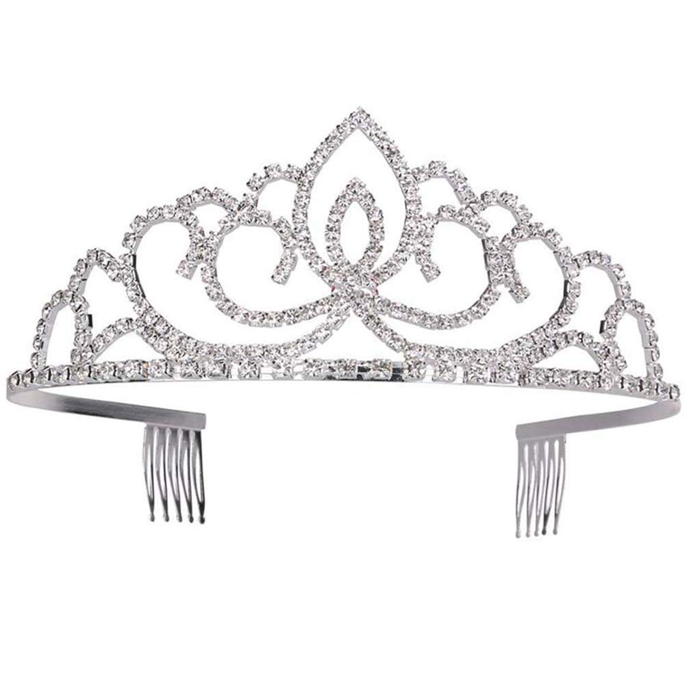 BingQing brand Bridal Crown Tiara. Fashion Stylish Rhinestones Princess Crown Headband diamond Hair Wedding Tiara Bride Prom-WG-3