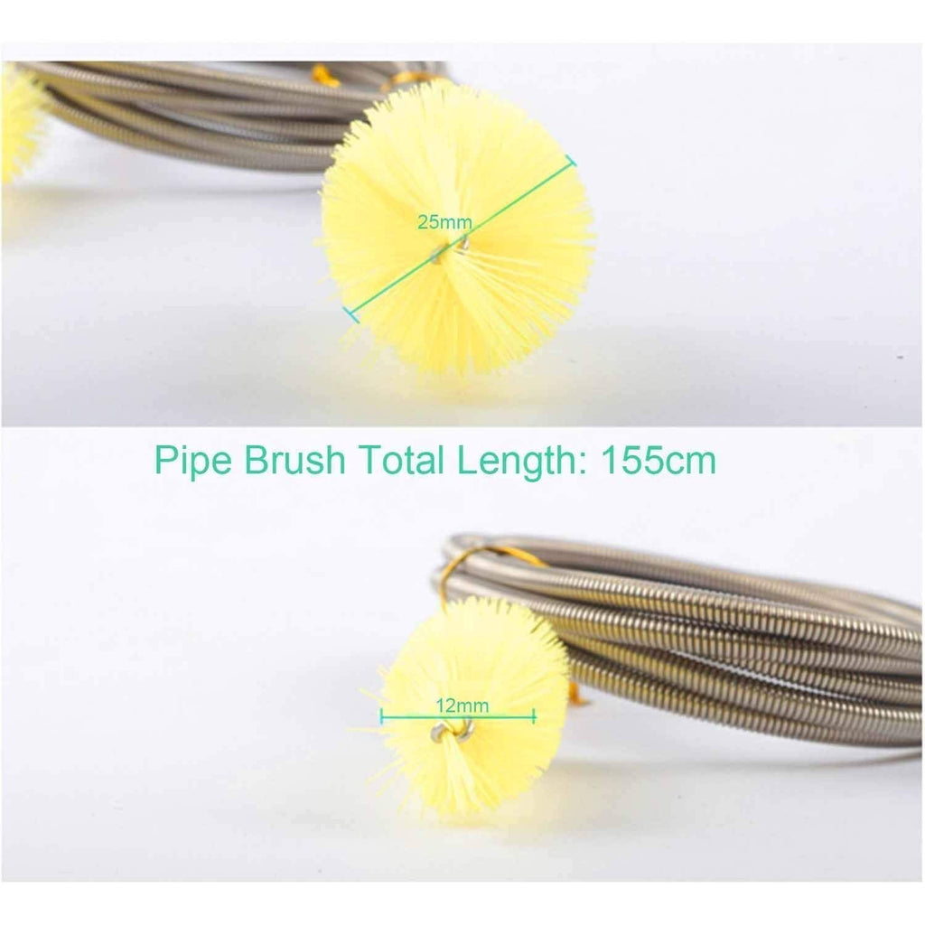 KaLaiXing brand Flexible155cm Double Ended Water Filter Pump Pipe Cleaning Brush Aquarium Fish Tank Air Tube Hose Cleaner-yellow