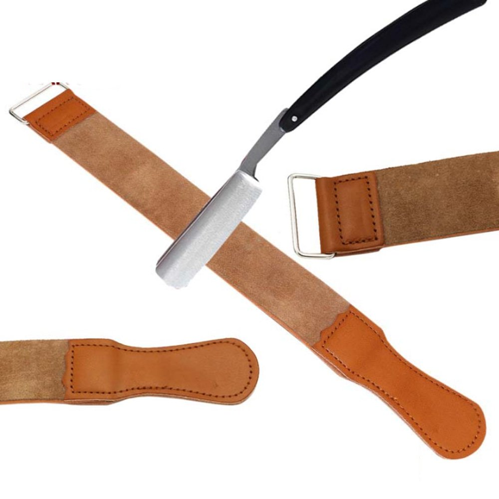 BingQing brand Straight Razor Sharpener Strap Belt. Genuine Leather Strop Belt with Sharpening Polishing for Knife Straight Razor by-ZT02